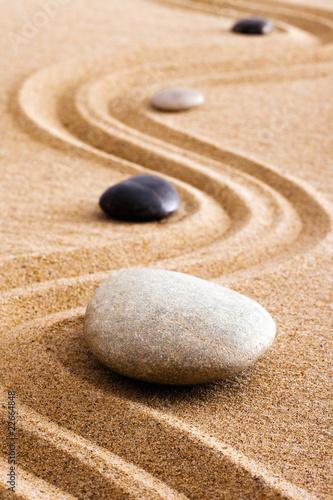 Photo sur Toile Zen pierres a sable Concept zen