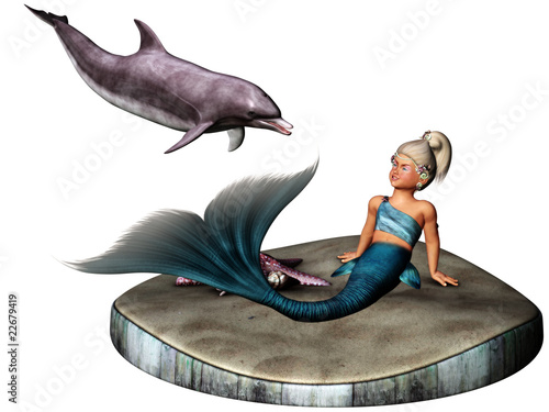 Wall Murals Mermaid little Mermaid 2