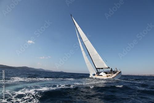 Fotografia  Sailing on the Adriatic Sea