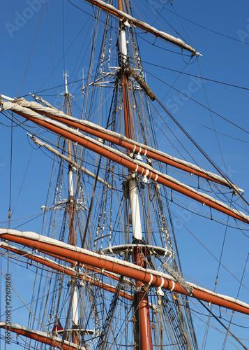 Valokuva  Tall Ship Masts and Rigging