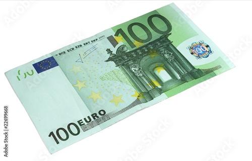 Fotografie, Obraz  Banknote 100 Euros