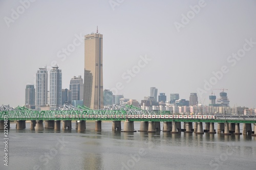 Han River Bridge, Seoul, Korea Poster