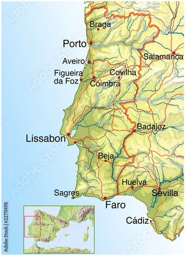 Landkarte Von Portugal Buy This Stock Illustration And Explore