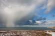 Hail storm clouds