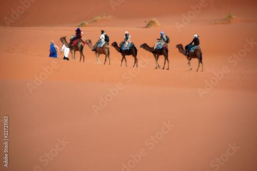 Canvas Prints Morocco Karawane in der Wüste, Marokko