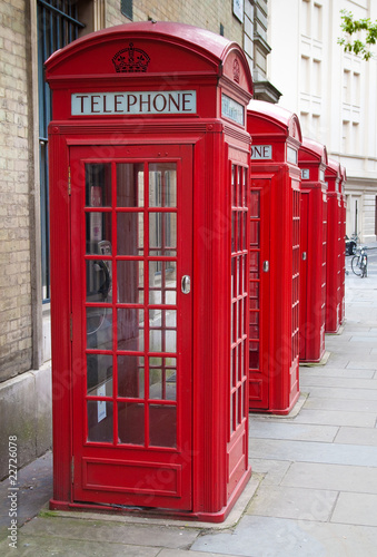 Typical red London phone booth Canvas Print