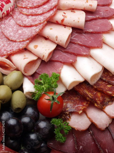 Fotografie, Obraz  meat delicatessen plate