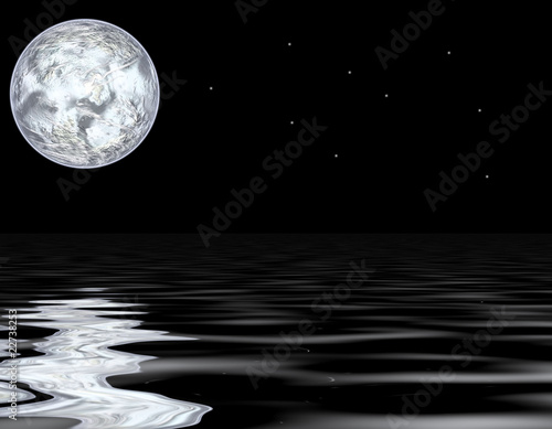 Fototapety, obrazy: moon and water