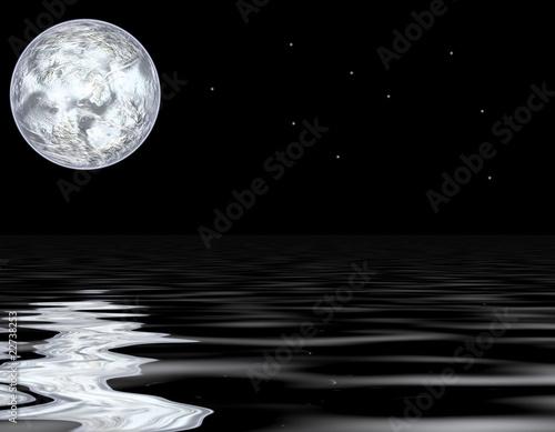Fototapeta moon and water obraz na płótnie