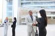 Diverse Business Team Handshake