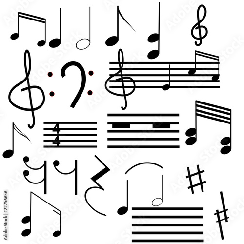 Collection Of Musical Symbols Buy This Stock Vector And Explore