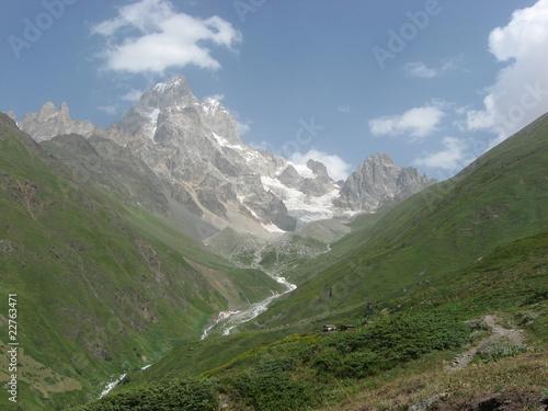 Fotobehang Alpen Ушба