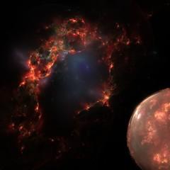 Supernova and Planet