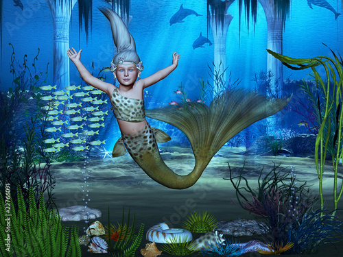 Wall Murals Mermaid meeresgrund