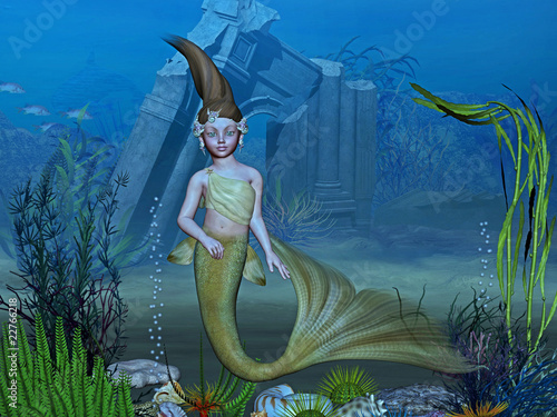 Wall Murals Mermaid atlantis