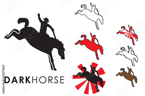 Rodeo A Cavallo.Kicking Horse Rodeo Cavallo Buy This Stock Vector And
