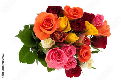 Photo  Bund mit Rosen in mehreren Farben