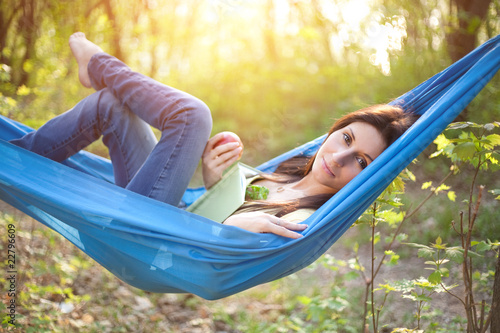 Photo  Relaxing in a Hammock
