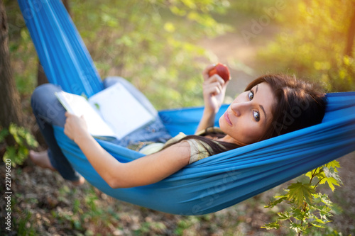 Poster  Relaxing in a Hammock