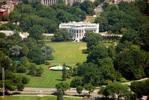 Valokuva Aerial view of The White house in Washington DC