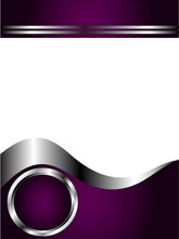 A Deep Purple And Silver Business Card