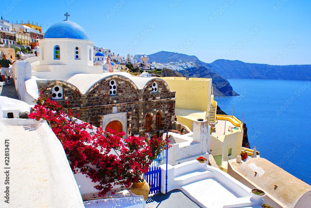 Fototapeta Architecture on Santorini island, Greece
