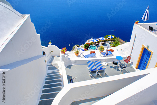 Fotobehang Santorini Architecture on Santorini island, Greece