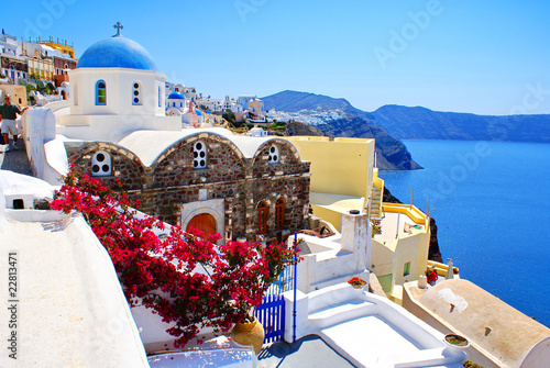 Poster Santorini Architecture on Santorini island, Greece