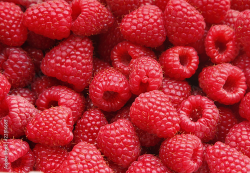 Photo sur Toile Fruits Sweet raspberry