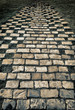 Old stone brick way