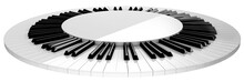 Circle Piano Keyboard Stage Is...