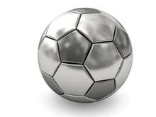 Silver Or Platinum Soccer Ball...