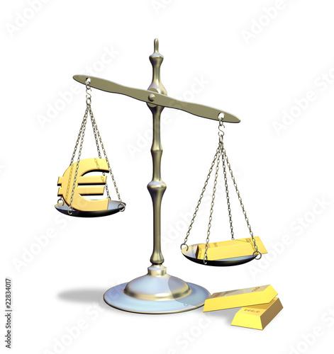 Bilancia Euro e Oro-Euro an Gold Balance