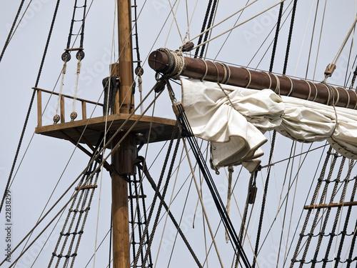 Valokuva  17th Century Galleon Crow's Nest