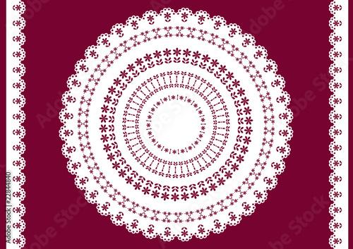 Fotografia, Obraz  Vector white doily.