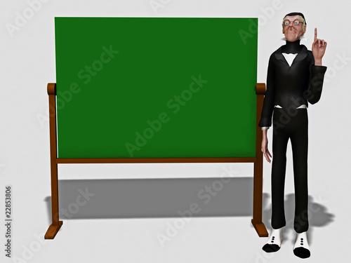 Fotografia, Obraz  Lehrer an der Tafel