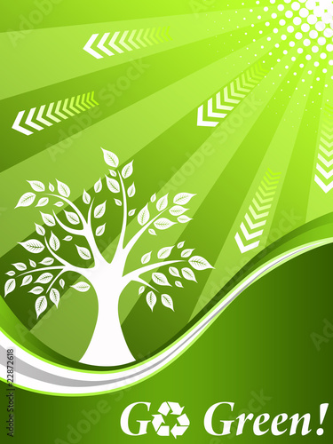 Wall Murals Pistachio Recycling tree background
