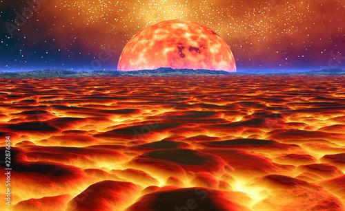 Fotobehang Baksteen burning sun