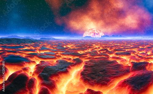 Obraz Gorąca lawa - fototapety do salonu
