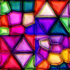 Panel Szklanymulticolour stained glass seamless texture