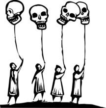 Skull Balloons