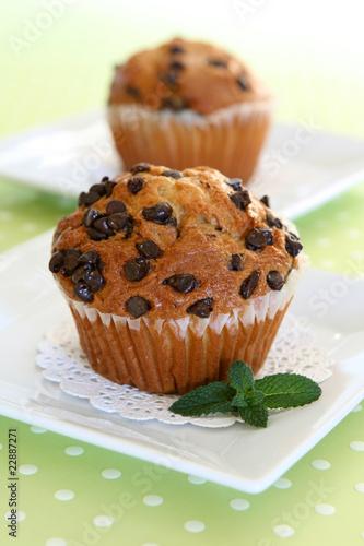 Fotografie, Obraz  Chocolate Chip Muffins