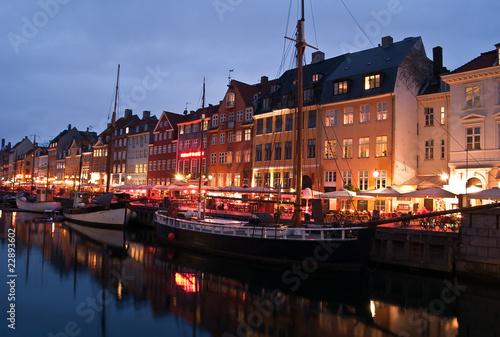 Photo  Copenhague - Nyhavn de nuit