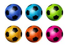 Colored Soccer Football Balls