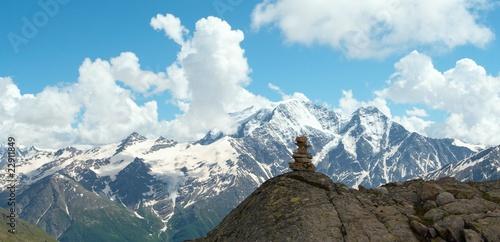 Tuinposter Nepal pyramid