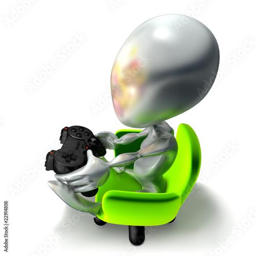 Photo  elliott 056, console, joueur, jeu vidéo, geek, manette, vert