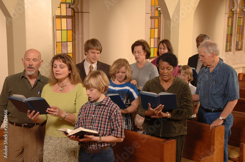 Fotografija  Singing Hymns in Church