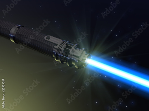 Photo Blue light saber