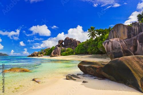 Fotografie, Obraz  Beach Source d'Argent at Seychelles