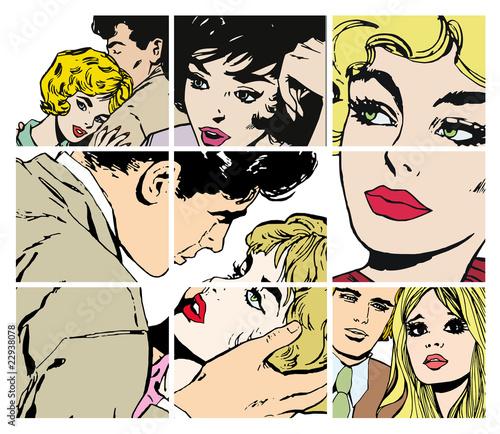 komiksowy-kolaz-zakochanych-ludzi